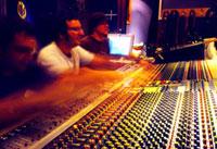 Jim at a mixing desk
